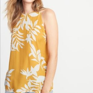 Sleeveless Printed High-Neck Top for Women